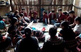 รูปภาพ : ผลิตภัณฑ์ผ้าชนเผ่าลาหู่ซีบ้านขอนม่วงออมสินยุวพัฒน์รักษ์ถิ่น