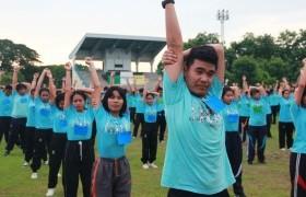 รูปภาพ : กิจกรรมออกกำลังกาย ส่งเสริมภาพนักศึกษาใหม่2561