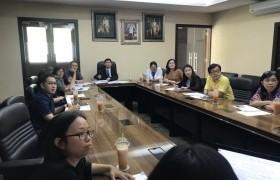 รูปภาพ : ประชุมจัดทำประกาศเรื่องแนวปฏิบัติและหลักเกณฑ์การเบิกค่าใช้จ่ายสำหรับนักศึกษาที่เดินทางไปต่างประเทศ