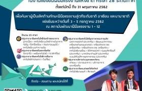 รูปภาพ : เปิดรับสมัครเยาวชนไทยร่วมแข่งขันฝีมือแรงงาน ครั้งที่ 28 ระดับภาค