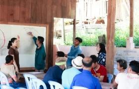 รูปภาพ : คณะวิจัยโครงการการบริหารจัดการน้ำให้เพียงพอสำหรับการเกษตรในฤดูแล้งชุมชน มทร.ล้านนา ลำปาง ลงพื้นที่สรุปบทเรียน บ้านแม่จอกฟ้า อ.แจ้ห่ม จ.ลำปาง