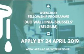 รูปภาพ : ประชาสัมพันธ์ทุนการศึกษา DUO Belgium/wallonia-brussels ประจำปี 2019 (สำหรับอาจารย์)