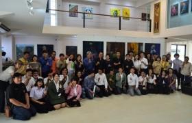 รูปภาพ : นิทรรศการที่รวบรวมผลงานจิตกรรมของนักศึกษาชั้นปีที่ 1 - 3 หลักสูตรทัศนศิลป์ ในชื่อนิทรรศการ มหึ.ศิลป์