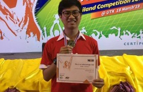 Image : CIS student got the gold medal in MOS Olympic Thailand Competition 2019