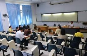 รูปภาพ : คณะกรรมการฝ่ายดำเนินงานจัดทำสัญญาผู้รับทุนทุนนวัตกรรมสายอาชีพชั้นสูง ประชุมเตรียมความพร้อมต้อนรับนักศึกษา