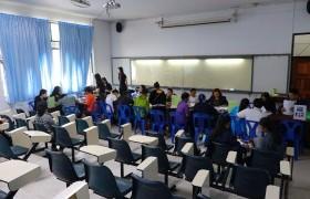 รูปภาพ : ภาพบรรยากาศการทำสัญญารับทุนของนักเรียนทุนนวัตกรรมสายวิชาชีพชั้นสูง ประจำปีการศึกษา 2562