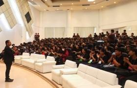 รูปภาพ : โครงการปฐมนิเทศและอบรมจริยธรรมนักศึกษาใหม่  ประจำปีการศึกษา  2562