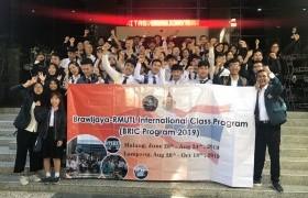 รูปภาพ : โครงการแลกเปลี่ยนนักศึกษารูปแบบการร่วมการเรียนการสอน International Class Program ; BRIC Program 2019