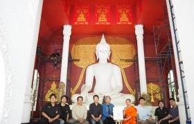 รูปภาพ : กลุ่มวิชาศิลปะไทยฯ ถวายภาพลายคำ พระพุทธเจ้า 28 พระองค์ โพธิพฤกษ์แห่งการตรัสรู้ วัดผาลาด