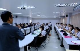 รูปภาพ : ปฐมนิเทศนักศึกษาแลกเปลี่ยน Guangxi Normal University (GXNU) สาธารณรัฐประชาชนจีน