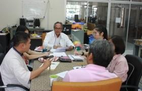 รูปภาพ : บุคลากรศูนย์วัฒนธรรมศึกษา ดำเนินการประชุม ร่วมกับ รองอธิการบดีฝ่ายกิจการพิเศษ เพื่อพิจารณารายละเอียดโครงการประจำปีงบประมาณ 2563