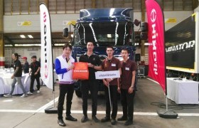 Image : Mechanical Engineer students, RMUTL received a prize in the Mechanic Skills Competition that arranged by Hino Motors Sales (Thailand) Ltd.