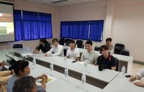 รูปภาพ : คณะอาจารย์และผู้เชี่ยวชาญ จากมหาวิทยาลัยแดเจิน ประเทศเกาหลีใต้ เข้าศึกษาดูงาน