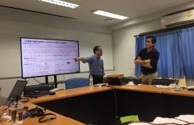 รูปภาพ : คณาจารย์หลักสูตรวิศวกรรมโยธาหารือสร้างความร่วมมือกับ Tsuruoka College ประเทศญี่ปุ่น และ OKAYA (THATLAND) CO.,LTD