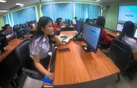 รูปภาพ : การทดสอบมาตรฐานด้านเทคโนโลยีสารสนเทศ สำหรับนักศึกษาปริญญาตรี ภาคปกติ ชั้นปีสุดท้ายของแต่ละคณะ