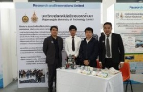 Image : Faculty of engineering participate in the exhibition of research and innovation to develop technology and promote innovation.
