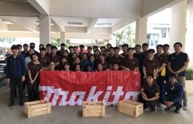 รูปภาพ : บริษัท Makita จำกัด จัดอบรมบรรยายเครื่องมืองานไม้ สำหรับนักศึกษา วิชา Civil Engineering Workshop