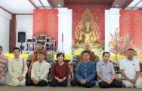 Image : Rajamangala University of Technology Lanna offer the robes and contribute the 6th Anurakthinthai novice ordination 2020