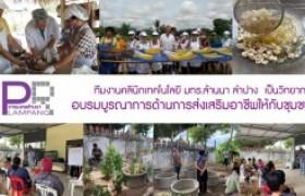 รูปภาพ : ทีมงานคลินิกเทคโนโลยี มทร.ล้านนา ลำปาง  เป็นวิทยากรอบรมบูรณาการด้านการส่งเสริมอาชีพให้กับชุมชน