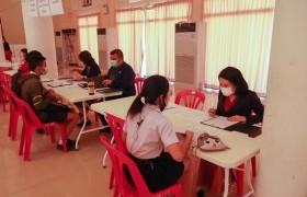 รูปภาพ : ภาพการสอบสัมภาษณ์นักศึกษารอบโควตาพิเศษ64