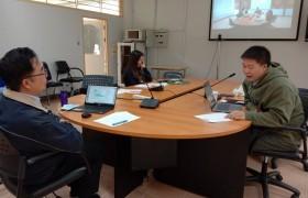 รูปภาพ : งานกิจการนักศึกษา ประชุมหารือเรื่อง หลักเกณฑ์การจ่ายเงินค่าบริการสุขภาพนักศึกษา ผ่านระบบ VDO CONFERENCE