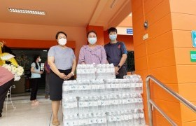รูปภาพ : วิทยาลัยเทคโนโลยีและสหวิทยาการ ร่วมสนับสนุนน้ำดื่มให้แก่เทศบาลตำบลแม่โป่งในโอกาสจัดกิจกรรมวันเข้าพรรษา