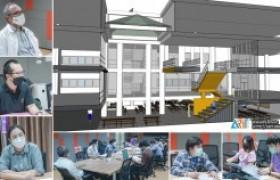 รูปภาพ : รศ.ดร.สมชาติ หาญวงษา (รอง อมทร.ล ฝ่ายกิจการพิเศษ) ประชุมติดตาม งานปรับปรุงอาคารวิทยบริการฯ เป็นพื้นที่ Learning space สำหรับนักศึกษา